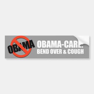 Anti-Obama - bend over and cough Car Bumper Sticker