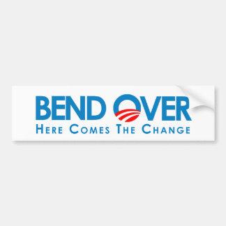 Anti-Obama - Bend Over for change Bumper Sticker