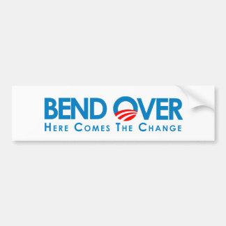 Anti-Obama - Bend Over for change Car Bumper Sticker