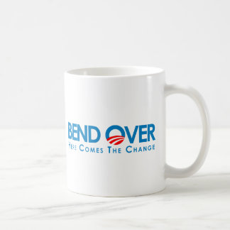 Anti-Obama - Bend Over for change Classic White Coffee Mug