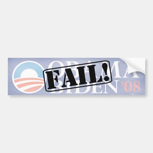 Anti Obama - Biden - FAIL Car Bumper Sticker