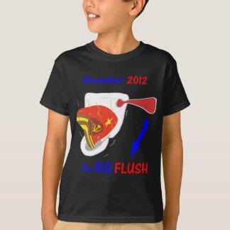 Anti Obama Big Flush Dark Background T-Shirt