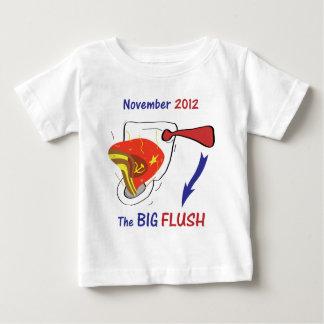Anti Obama Big Flush Light Background Baby T-Shirt
