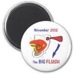 Anti Obama Big Flush Light Background Magnet
