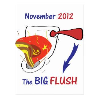 Anti Obama Big Flush Light Background Postcard