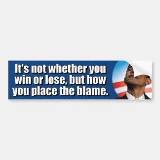 Anti Obama Blame Game Champ Bumper Sticker