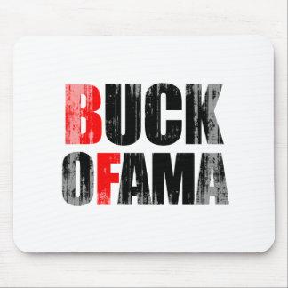 Anti-Obama - BUCK OFAMA 2 black Faded png Mousepads
