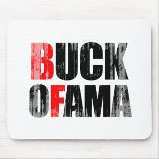 Anti-Obama - BUCK OFAMA 2 black Faded png Mousepad