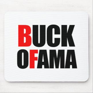 Anti-Obama - BUCK OFAMA 2 black Mouse Mats