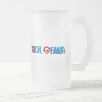 Anti-Obama - Buck Ofama Frosted Glass Beer Mug