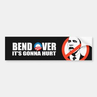 Anti-Obama bumper sticker - Bend Over It's gonna h Car Bumper Sticker