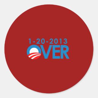 Anti-Obama Bumpersticker - durante 1-20-2013 Pegatina Redonda