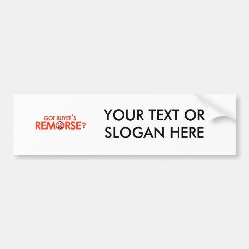 ANTI-OBAMA BUMPERSTICKER - GOT BUYERS REMORSE-.png Bumper Stickers