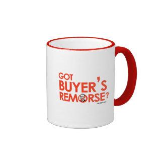 ANTI-OBAMA BUMPERSTICKER - GOT BUYERS REMORSE RINGER COFFEE MUG