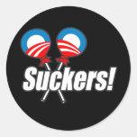 Anti-Obama Bumpersticker - lechones Etiquetas Redondas