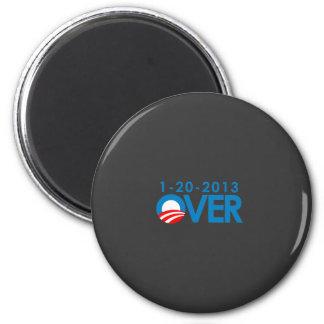 Anti-Obama Bumpersticker - Over 1-20-2013 2 Inch Round Magnet