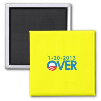 Anti-Obama Bumpersticker - Over 1-20-2013 2 Inch Square Magnet