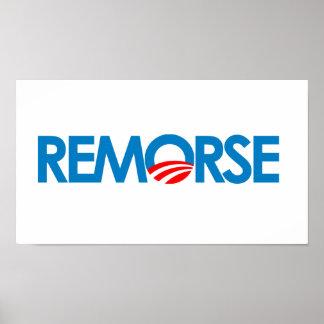 Anti-Obama Bumpersticker - remordimiento Posters