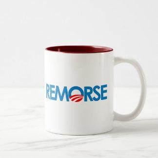Anti-Obama Bumpersticker - remordimiento Taza De Dos Tonos