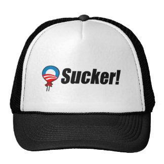 Anti-Obama Bumpersticker - Sucker 2 Trucker Hat