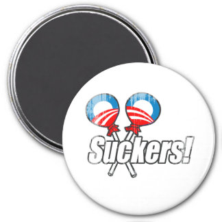 Anti-Obama Bumpersticker - Suckers Faded png Fridge Magnets