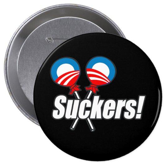 Anti-Obama Bumpersticker - Suckers Pinback Button