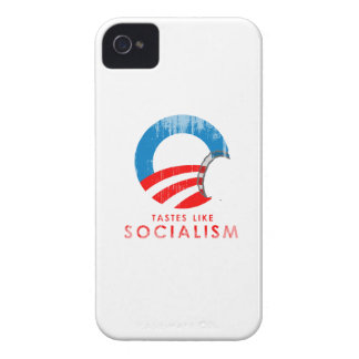 Anti-Obama Bumpersticker - Tastes like Socialism F iPhone 4 Case