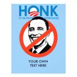 Anti-Obama Bumpersticker - toque la bocina si el p Flyer Personalizado