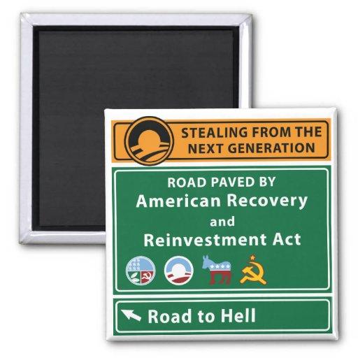 Anti-Obama: Camino al infierno pavimentado con el  Imán De Nevera