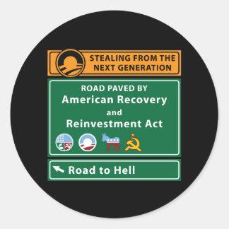 Anti-Obama: Camino al infierno pavimentado con el Pegatina Redonda