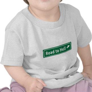 Anti-Obama Camino al infierno pavimentado con el Camiseta