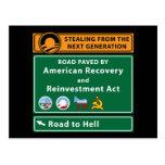 Anti-Obama: Camino al infierno pavimentado con el  Tarjetas Postales