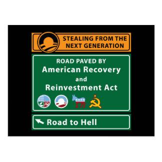 Anti-Obama: Camino al infierno pavimentado con el Postal