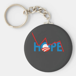 Anti-Obama - camiseta rota de la esperanza Llavero Personalizado