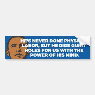 Anti-Obama - cavador del agujero - pegatina para e Etiqueta De Parachoque