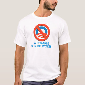 ANTI-OBAMA - CHANGE FOR THE WORSE T-Shirt