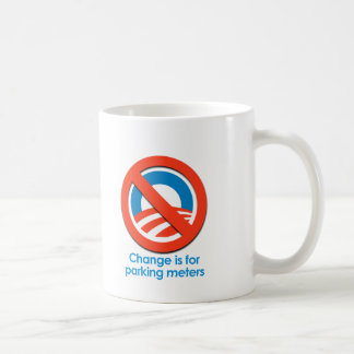 ANTI-OBAMA - CHANGE IS FOR PARKING METERS CLASSIC WHITE COFFEE MUG
