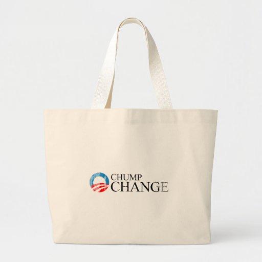 ANTI-OBAMA - CHUMP CHANGE BLACK- Faded.png Jumbo Tote Bag