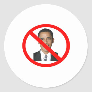Anti-Obama Classic Round Sticker