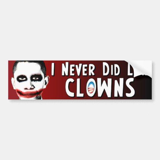 Anti Obama - Clowns - Joker Bumper Sticker