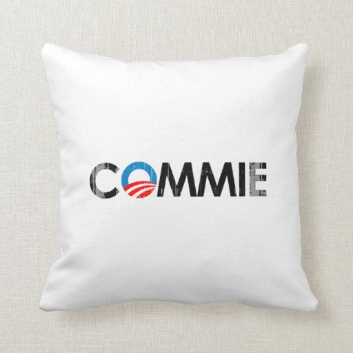 ANTI-OBAMA - COMMIE Faded.png NEGRO Cojin