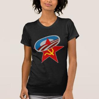 ANTI OBAMA COMMUNIST /SOCIALIST STAR SYMBOL T SHIRT