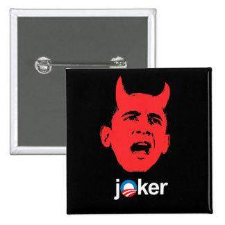 Anti-Obama - comodín Pin Cuadrada 5 Cm