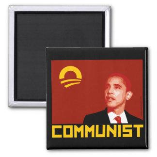 Anti-Obama: Comunista de Barack Obama Imán Cuadrado