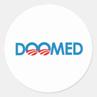 Anti-Obama - condenado Etiqueta