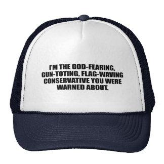 Anti-Obama - conservador temeroso de Dios Gorros