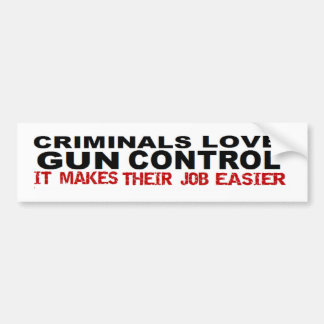 Anti Obama Criminal Gun Control Political Bumper Sticker