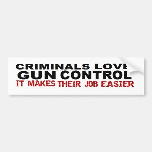 Anti Obama Criminal Gun Control Political Bumper Sticker