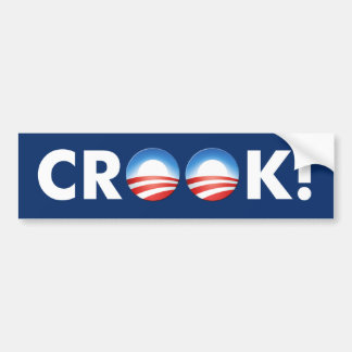 "Anti Obama ""Crook!"" bumper sticker"