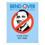 Anti-Obama - curva encima para el cambio Tarjetas Publicitarias